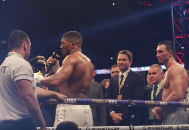 Anthony Joshua Calls Out Tyson Fury