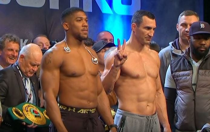 joshua vs klitschko fight time