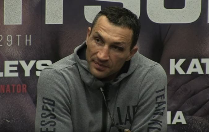 klitschko reacts