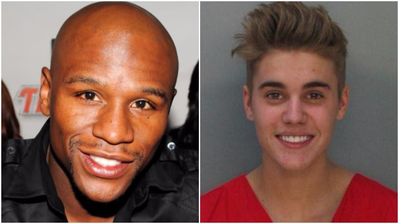 Mayweather and Justin Bieber