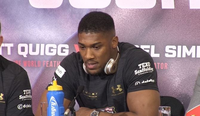anthony joshua next fight date