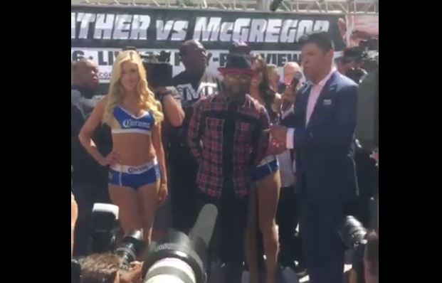mayweather arrives