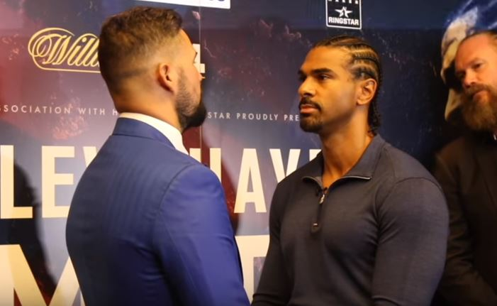 Haye and Bellew Staredown