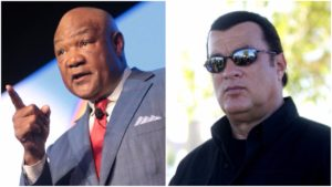 george foreman calls out steven seagal