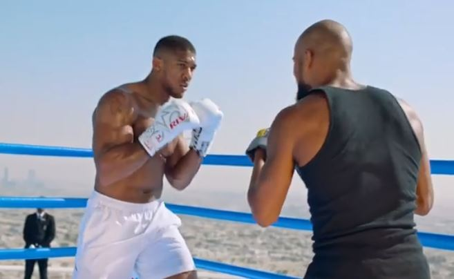 Anthony Joshua Appears In Dubai