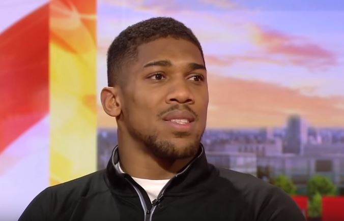 Tireless Anthony Joshua attacks giant tyre in Dubai