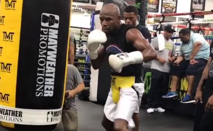 Floyd Mayweather demonstrates