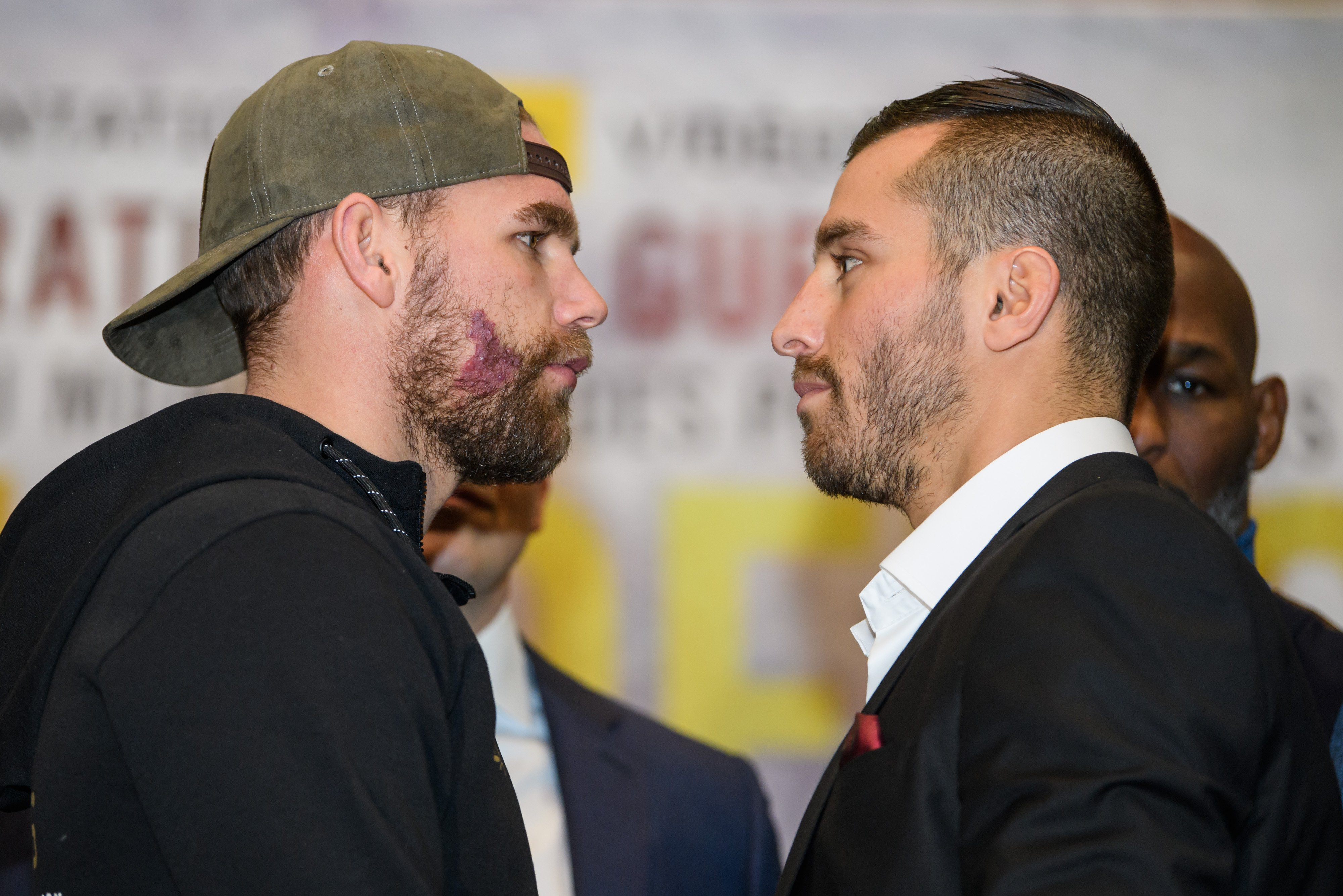 It nearly kicks off at Billy Joe Saunders' weigh-in after disgusting insult