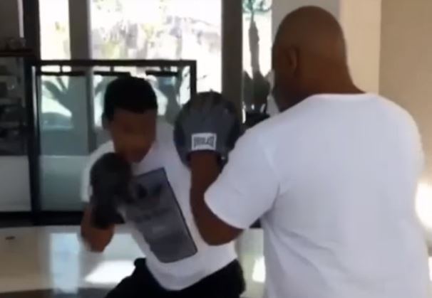 Mike Tyson Training His Son