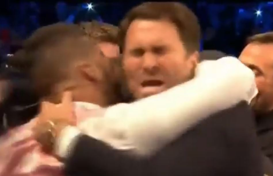 tony bellew accidentally headbutting eddie hearn