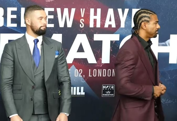Haye vs Bellew Rematch Card