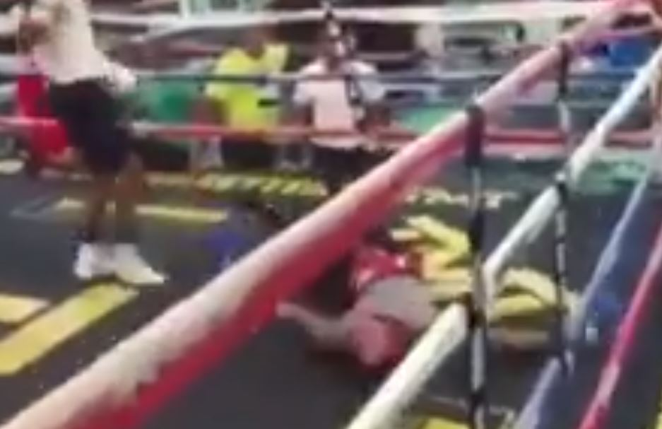 Mayweather Gym Sparring KO