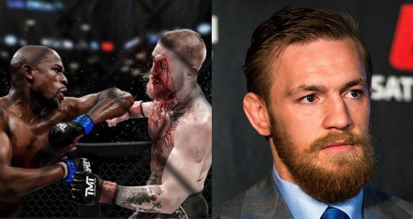 McGregor Reacts To Mayweather Elbow
