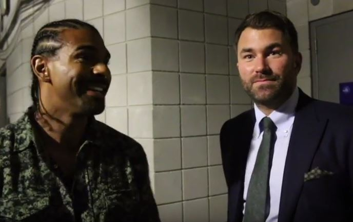 david haye has a warning for eddie hearn ahead of bellew rematch