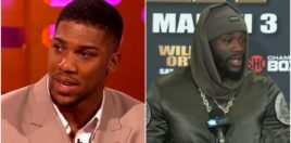 Anthony Joshua Reacts To Deontay Wilder