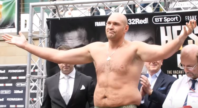 tyson fury weight
