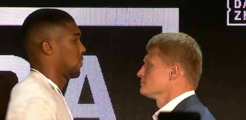 Blunder Made At The Joshua vs Povetkin Weigh-In