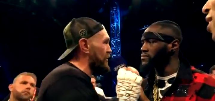 Wilder Gets In The Ring With Tyson Fury