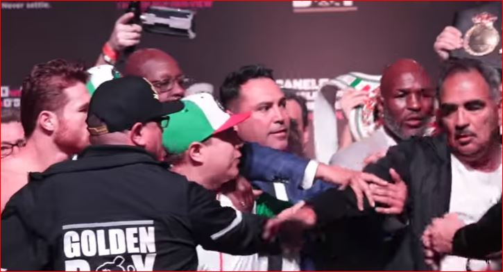 Watch Canelo Runs At Golovkin After Weigh-In