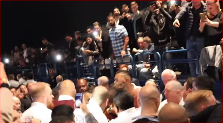 fans try to assault kell brook as he leaves amir khan vs samuel vargas fight