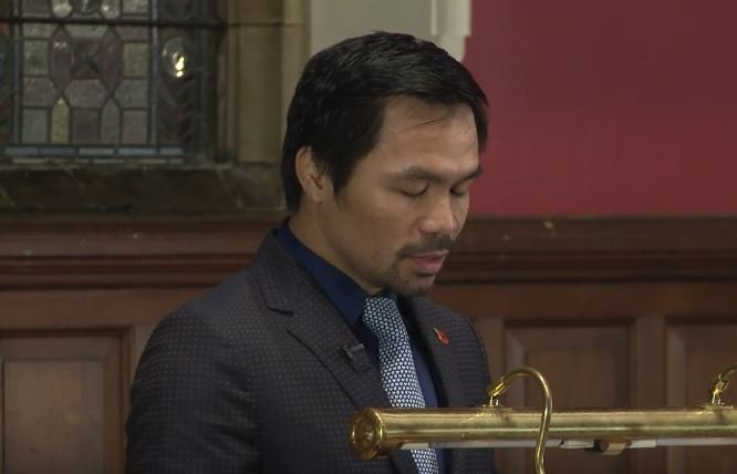 Manny Pacquiao Recalls Heart Wrenching Tale From His Brother During Oxford Address