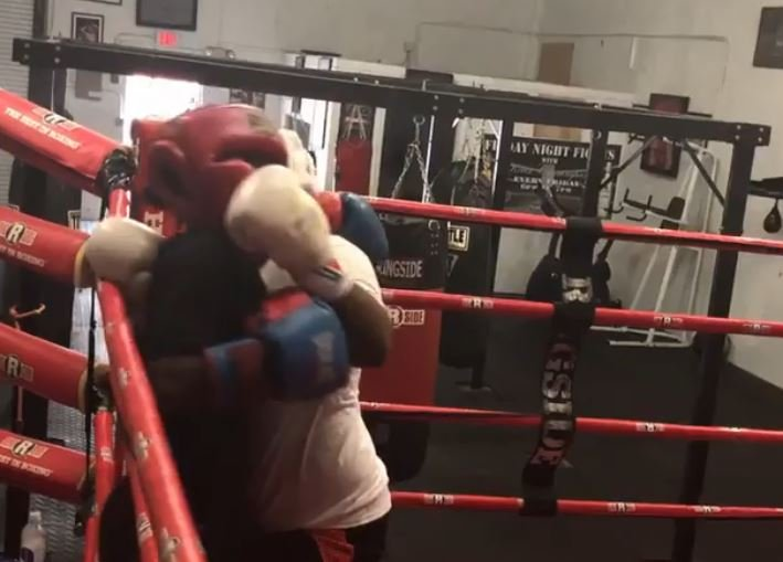 Adrien Broner's 2 Sons Spar On Christmas Day Ahead Of Pacquiao Fight