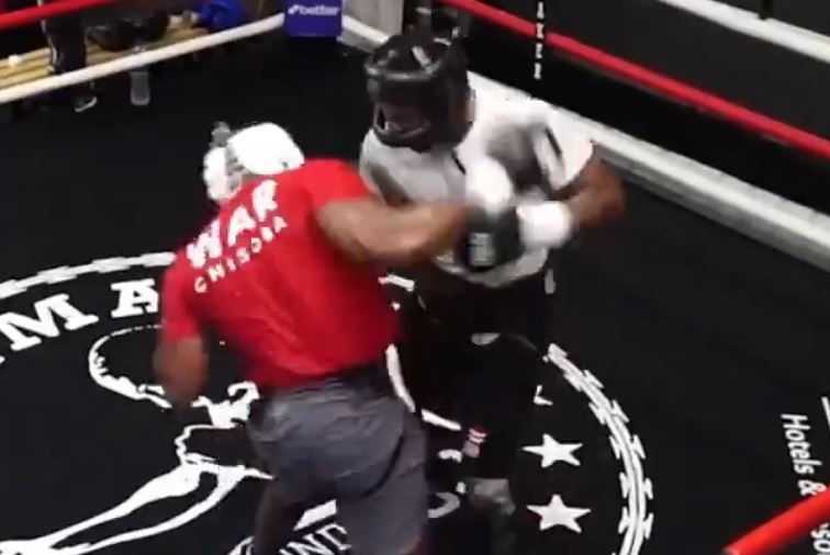 Leaked Sparring Footage Shows Chisora Going To War Ahead Of Whyte
