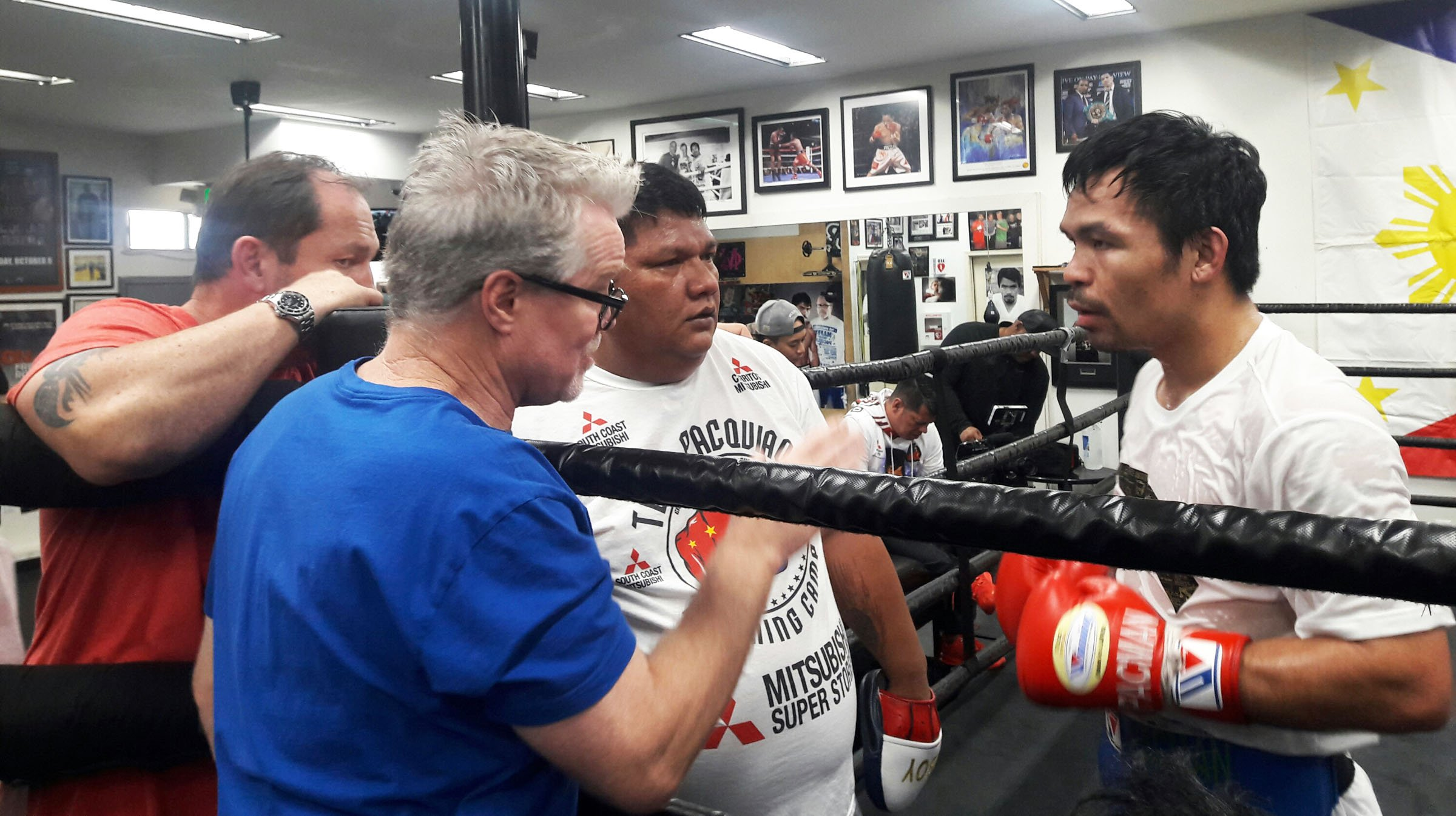 Legendary Boxing Buddies Reunited At Last - Freddie Roach and Manny Pacquiao