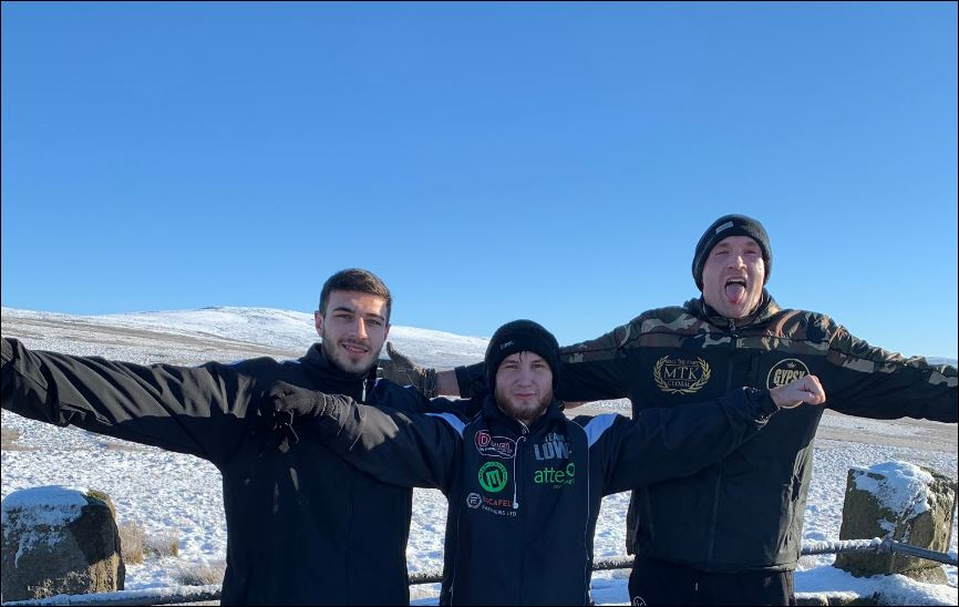 Tyson Fury Training In The Snow