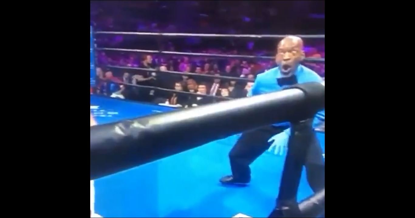 boxing referee steve willis wins the hearts of boxing fans once again