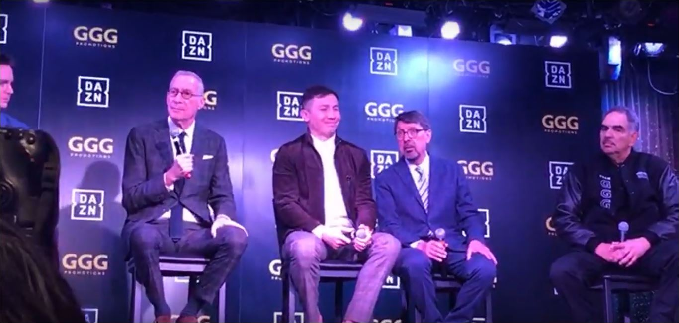 Gennady 'GGG' Golovkin DAZN Press Conference Roundup - Key Points