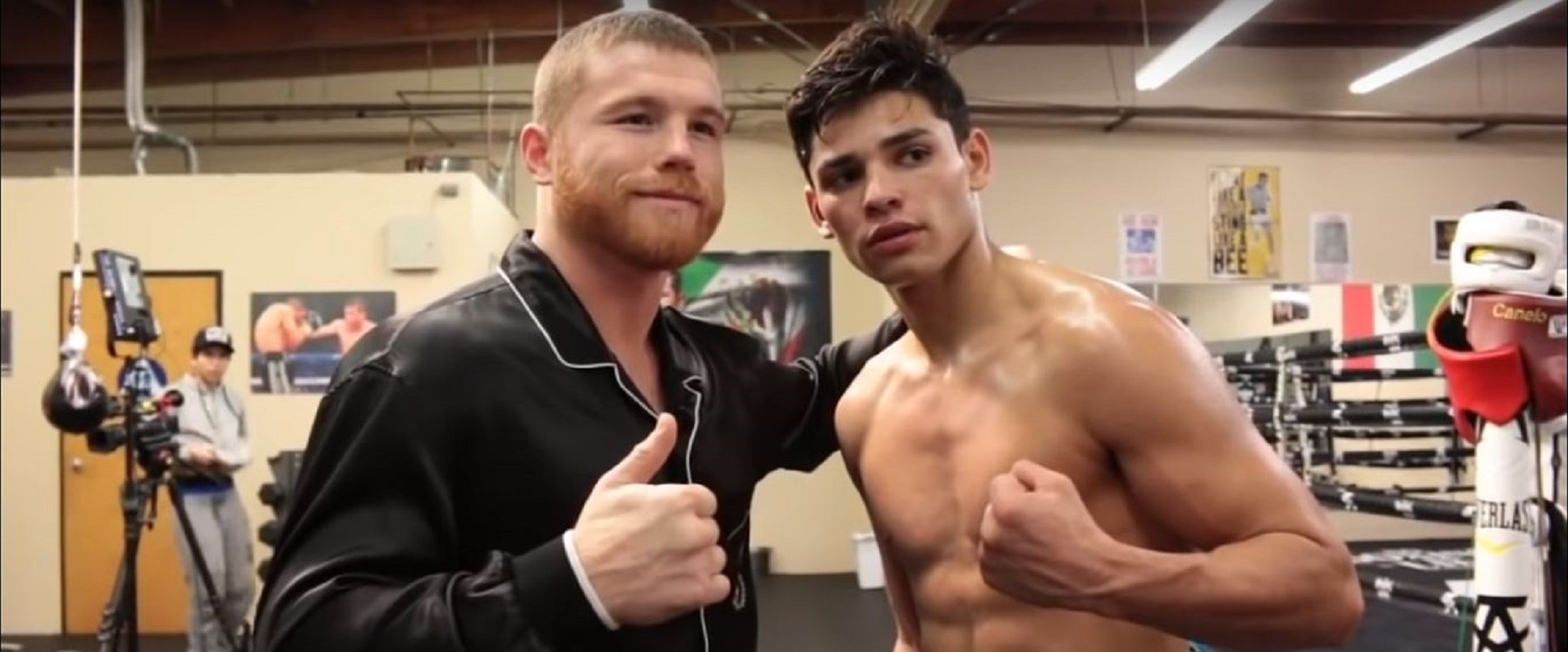Footage Shows Canelo Teaching Ryan Garcia How To Throw Left Hook