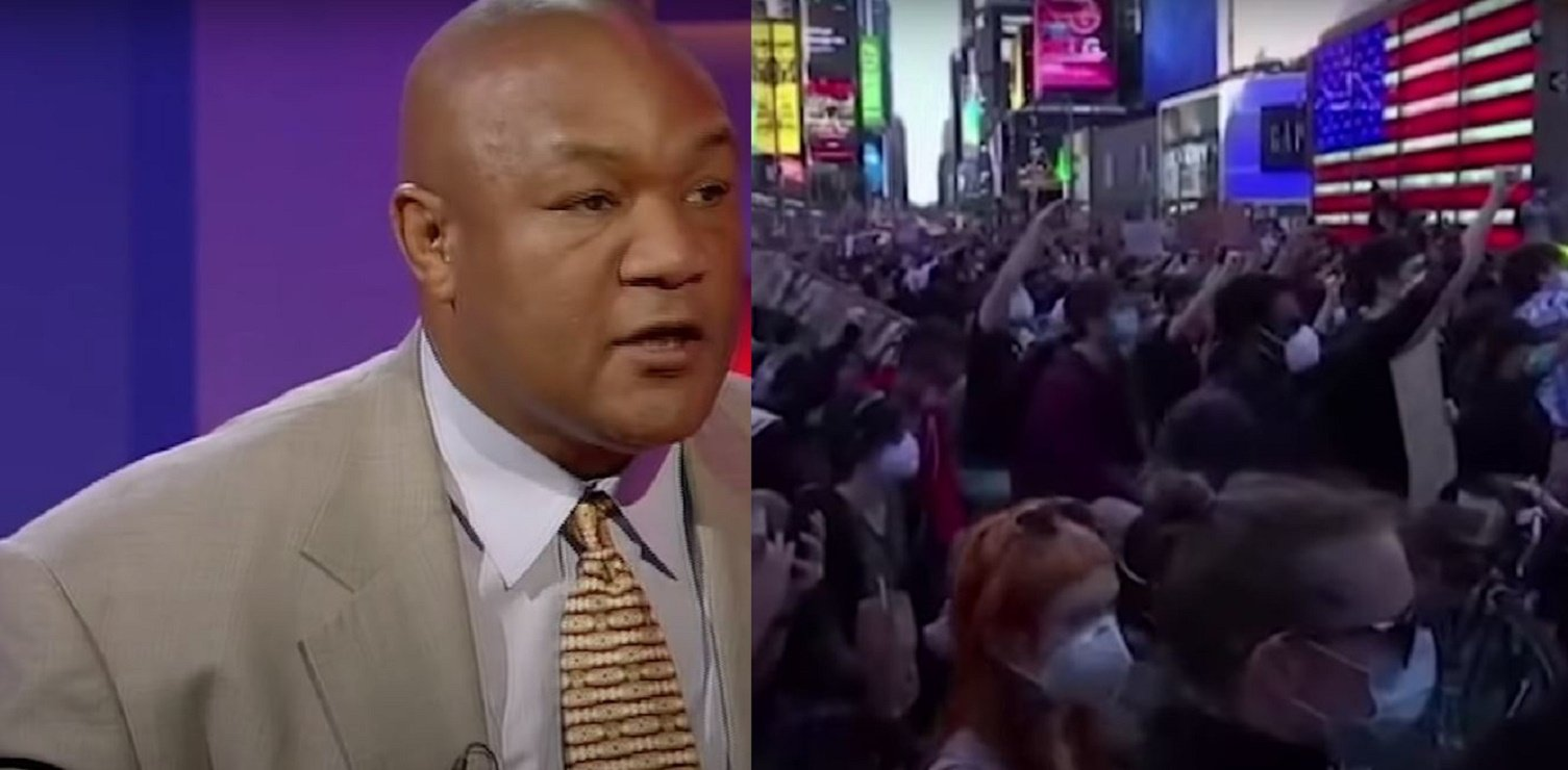 George Foreman Reacts To The Worldwide Riots and Chaos In America