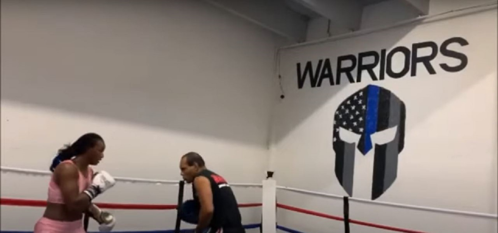 Claressa Shields Taking A Punch Out Of Fellow Boxer's Locker