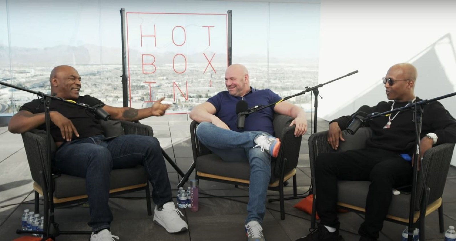 mike tyson and zab judah chop it up with dana white