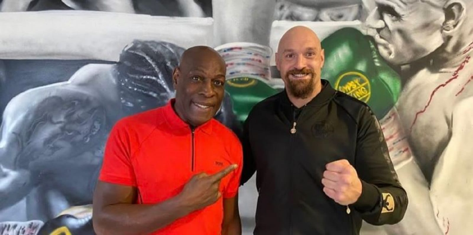 Tyson Fury Runs Into A Living Legend In Boxing