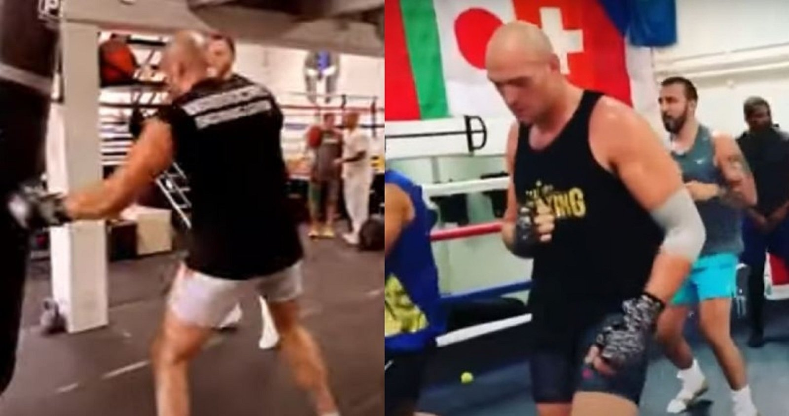 Tyson Fury Wildly Attacks Heavy Bag Ahead Of Deontay Wilder Fight