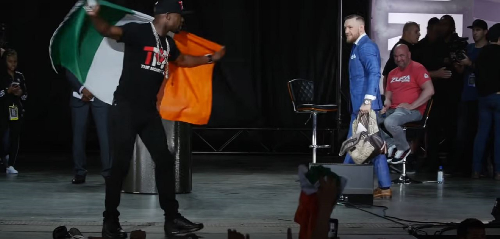 Conor McGregor Reacts To Mayweather Mocking First Round Loss