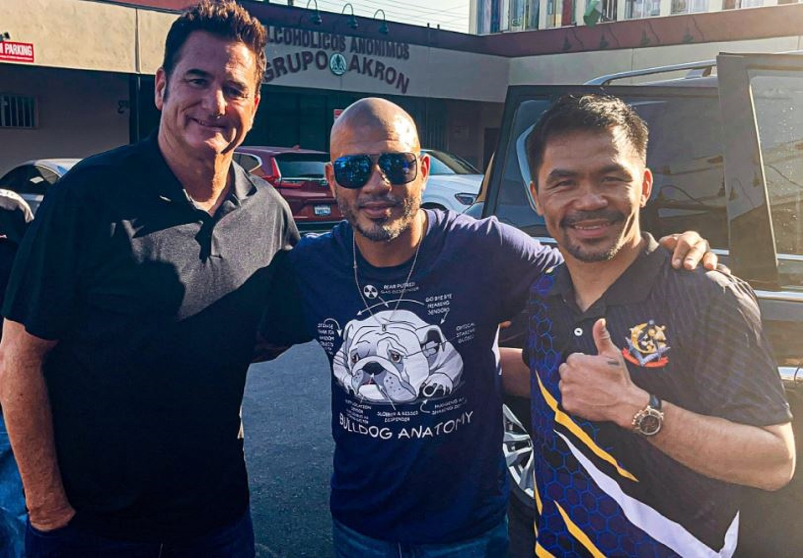 Manny Pacquiao Runs Into A Boxing Legend Ahead Of Errol Spence Fight