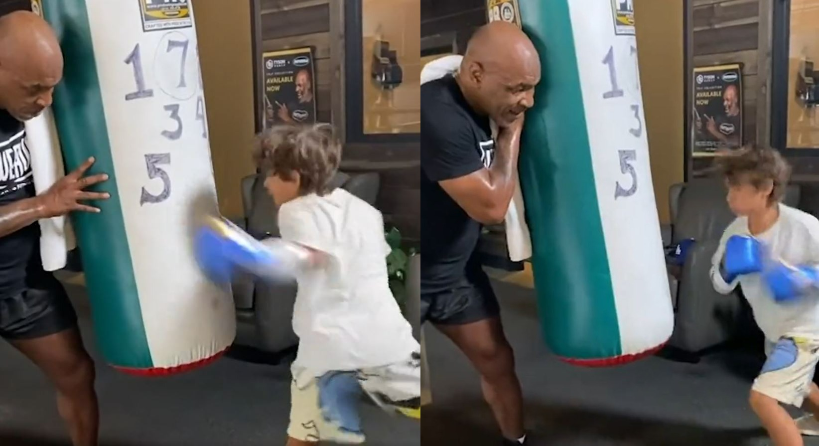 Mike Tyson Trains Son Of Boxing Legend