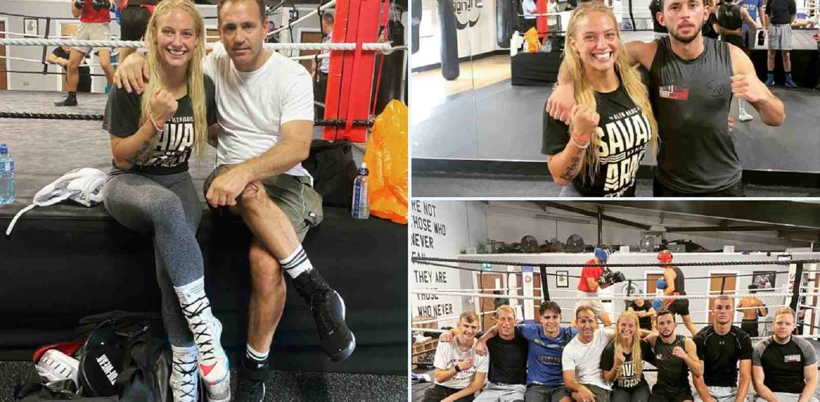 Blonde Bombshell Linked Up With Respected Boxing Trainer